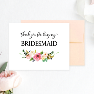 photograph relating to Free Printable Bridesmaid Cards identified as Printable Bridesmaid Playing cards Archives - Chicfetti