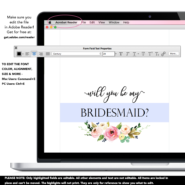 picture regarding Printable Bridesmaid Cards named Floral Thank On your own for Remaining My Bridesmaid Printable Playing cards