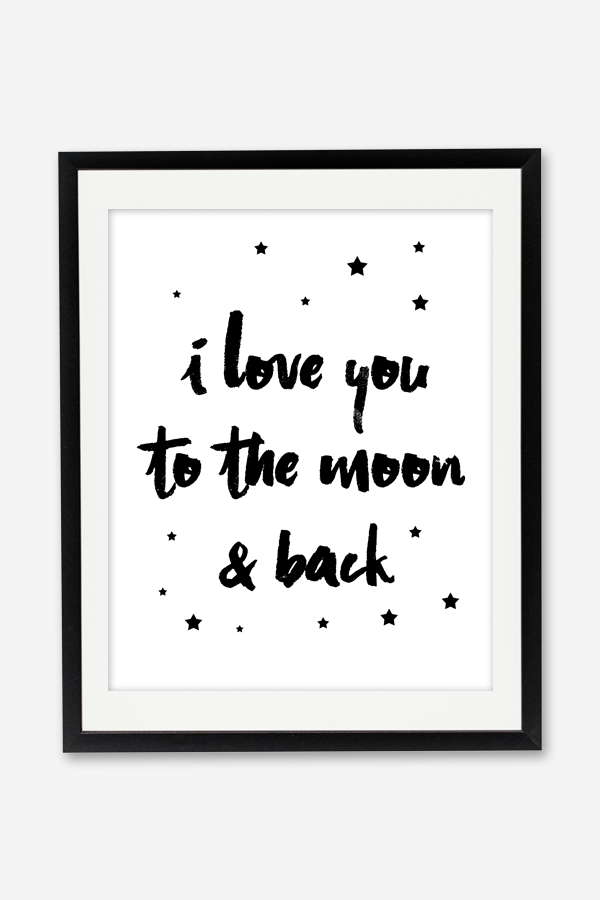 photo relating to I Love You Because Printable titled I Take pleasure in On your own in the direction of the Moon Again Printable Poster - Chicfetti