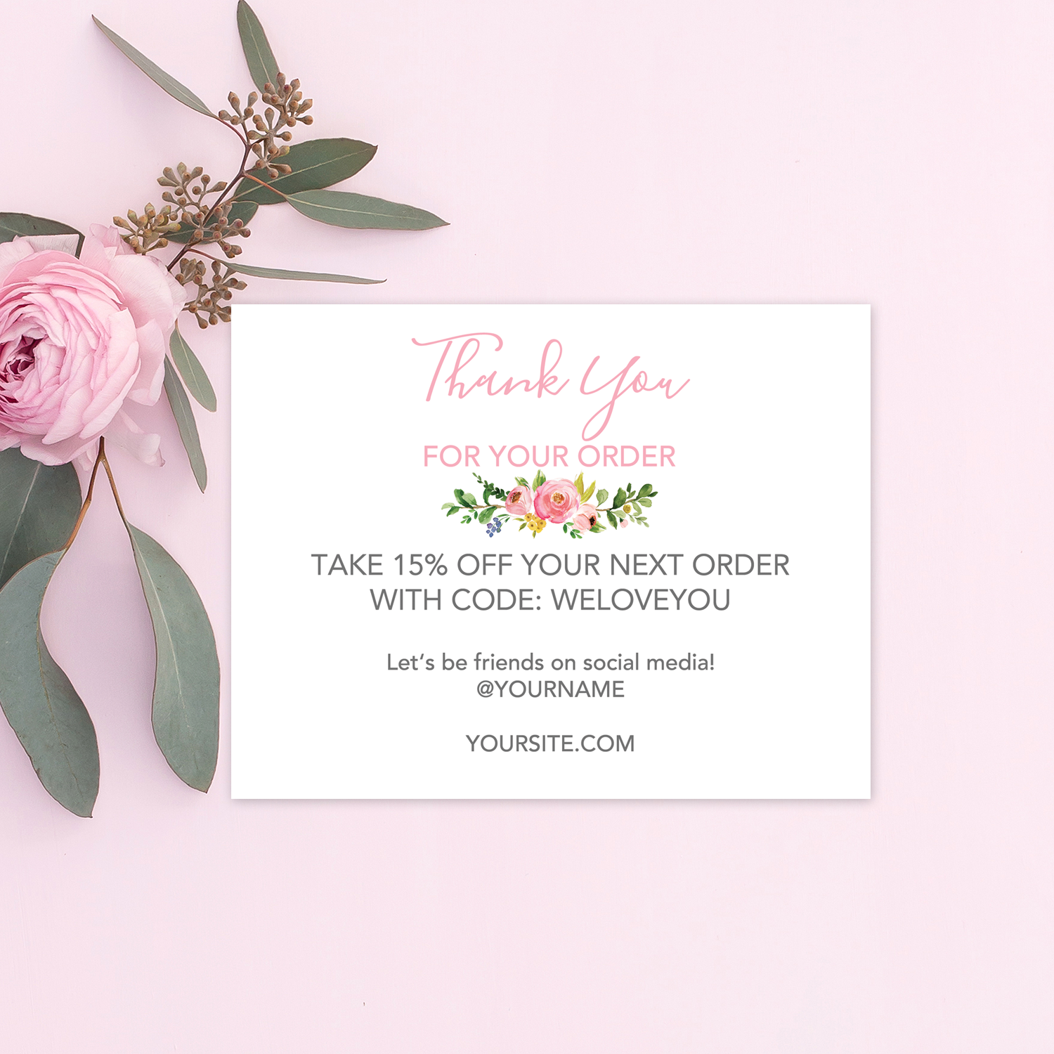 Online Store Thank You Cards