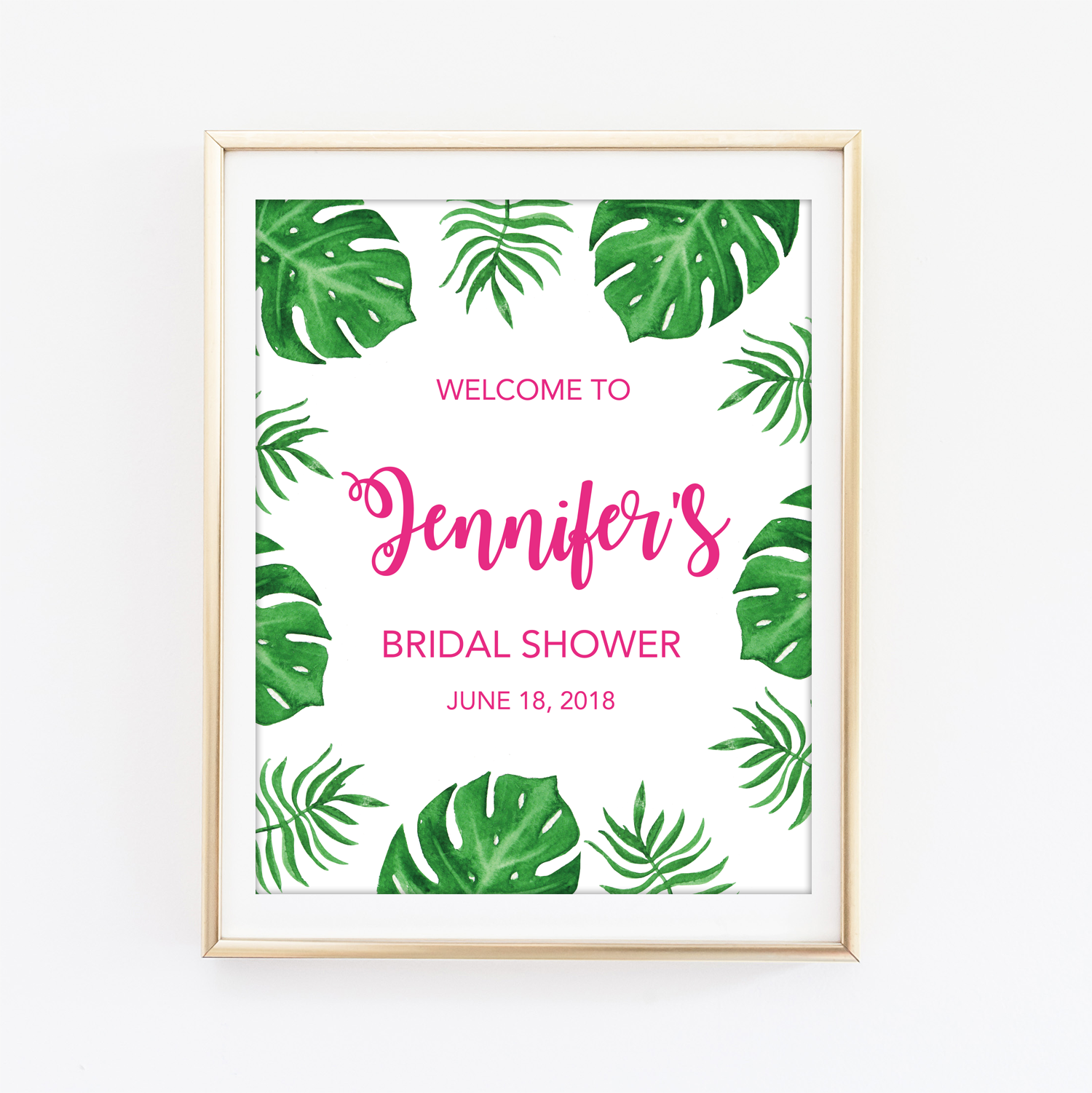 photo about Printable Welcome Sign identify Tropical Printable Welcome Signal