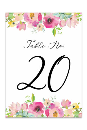 photo regarding Free Printable Wedding Table Numbers named Desk Figures - Absolutely free Printable Desk Variety Templates
