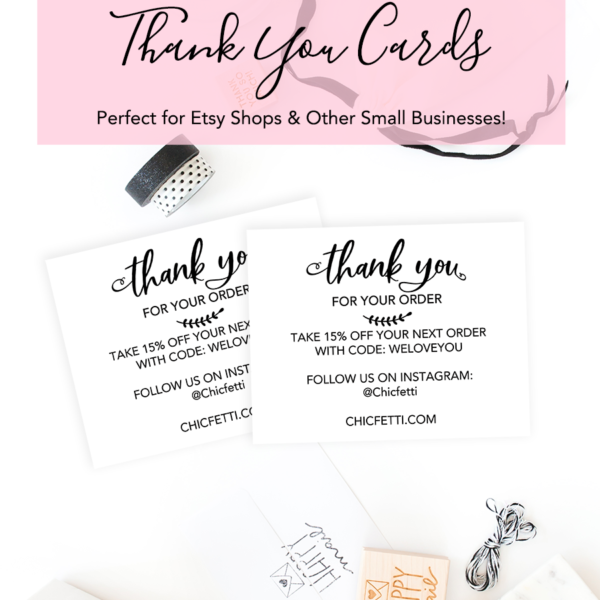 Printable Thank You Cards for your Business