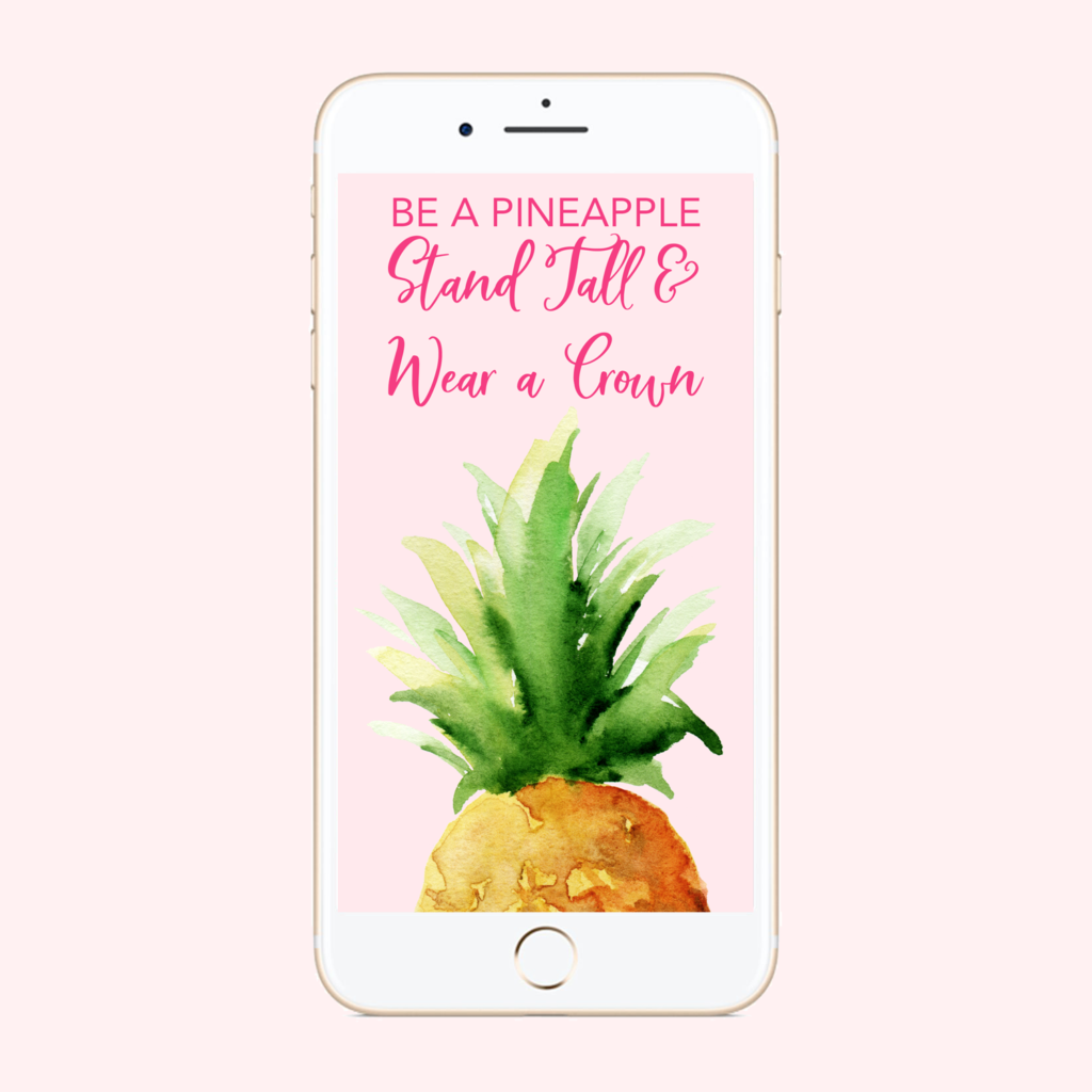 Be a Pineapple Phone Background