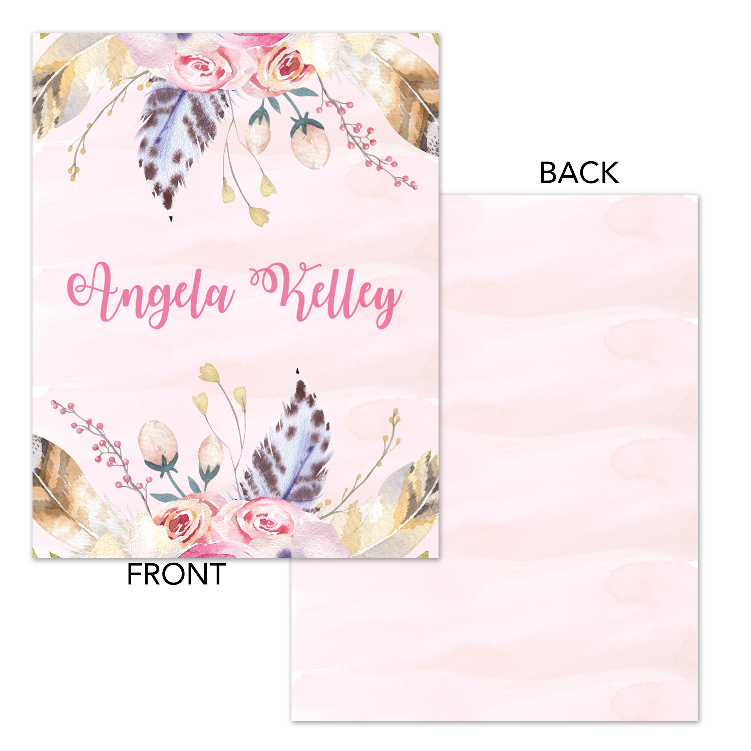image relating to Watercolor Printable named Boho Watercolor Printable Binder Deal with - Planner Include