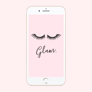 Eyelashes Phone Background