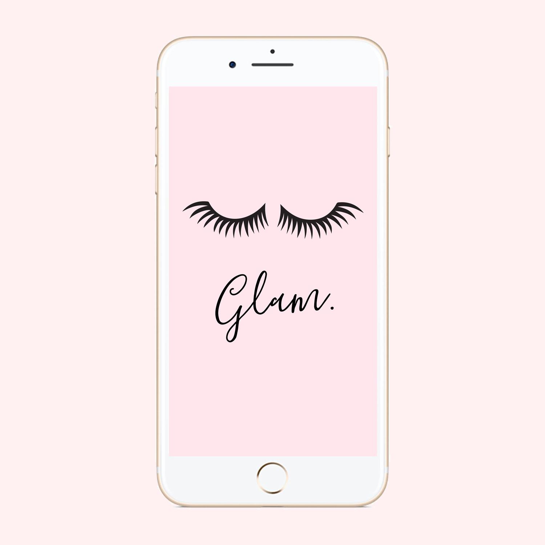 Eyelashes Phone Background
