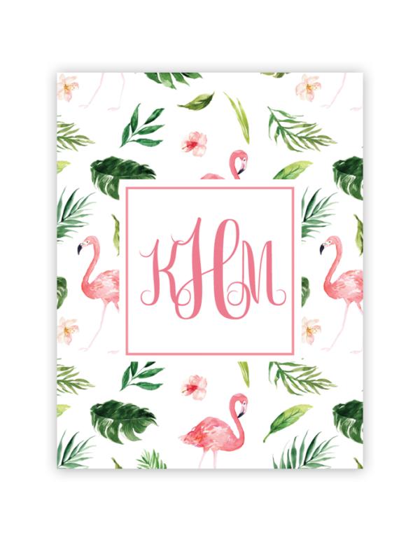 Flamingo Tropical Monogram Maker