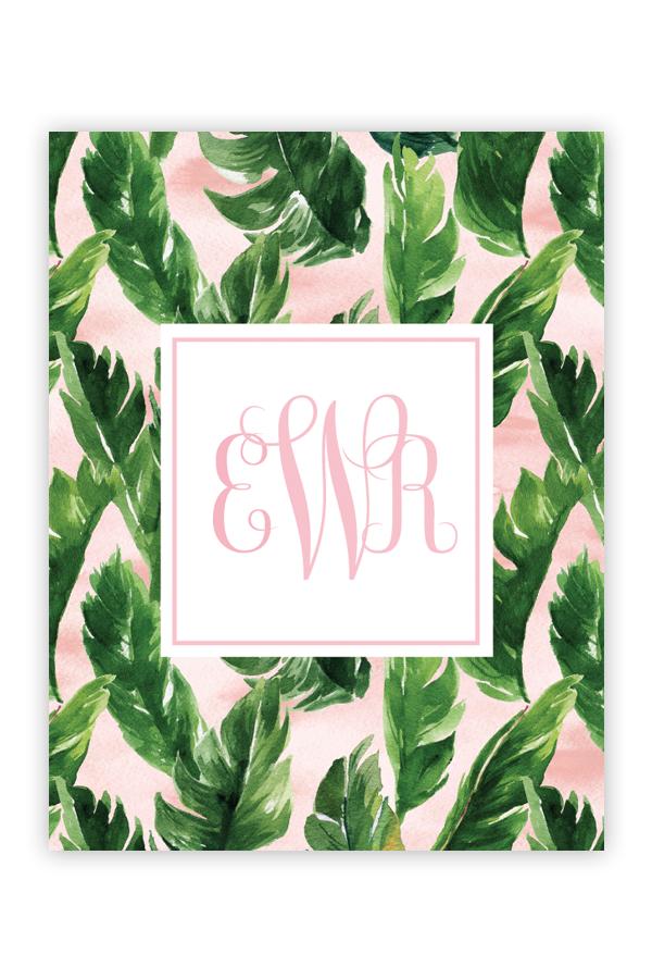 Free Water Color Palm Leaf Monogram Maker