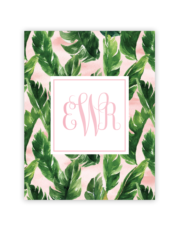 Free Water Color Palm Leaf Monogram Maker