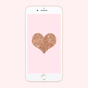 Glitter Heart Phone Background