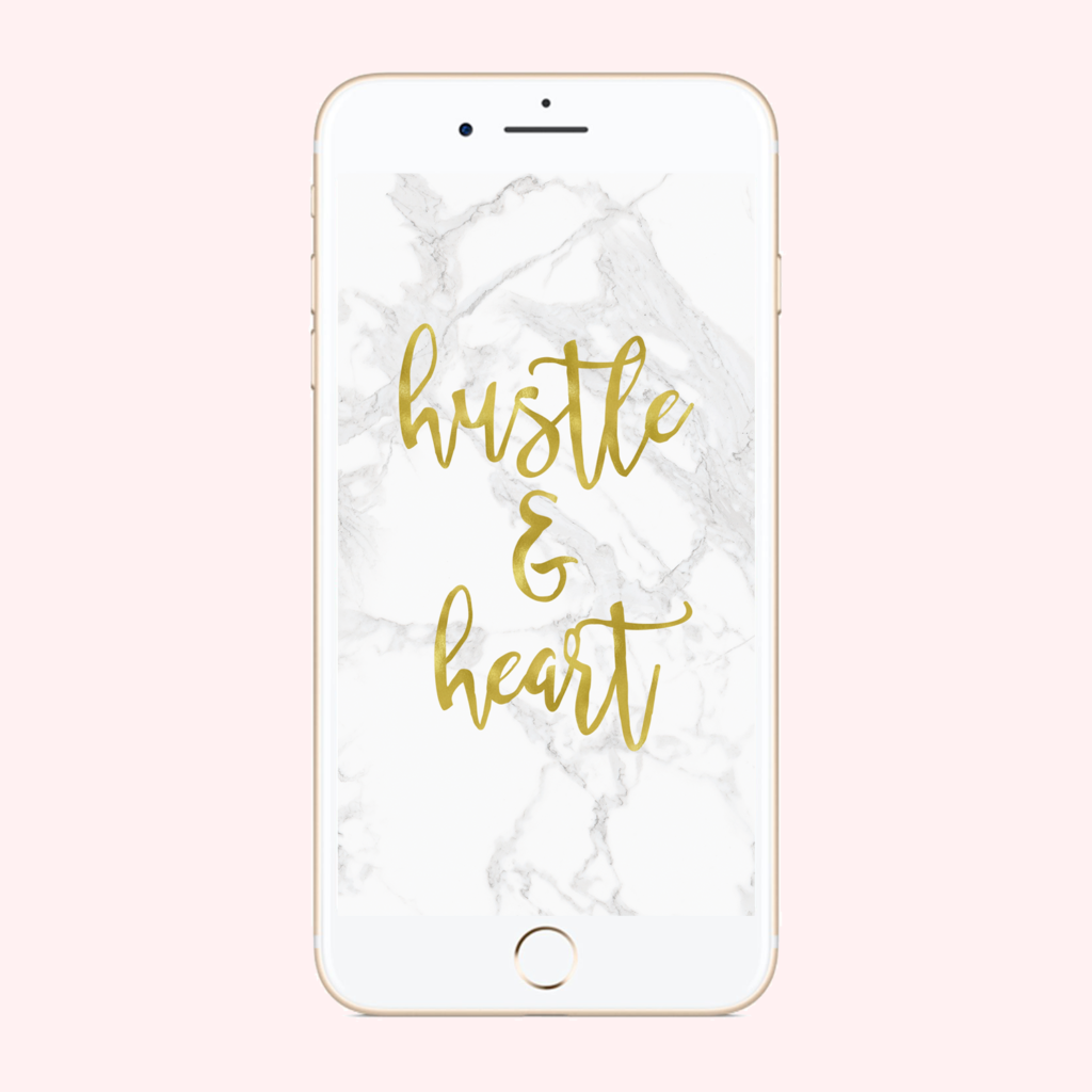 Hustle & Heart Phone Background