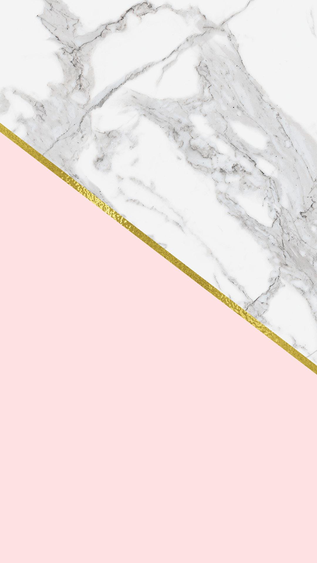 Marble Blush Phone Background Chicfetti