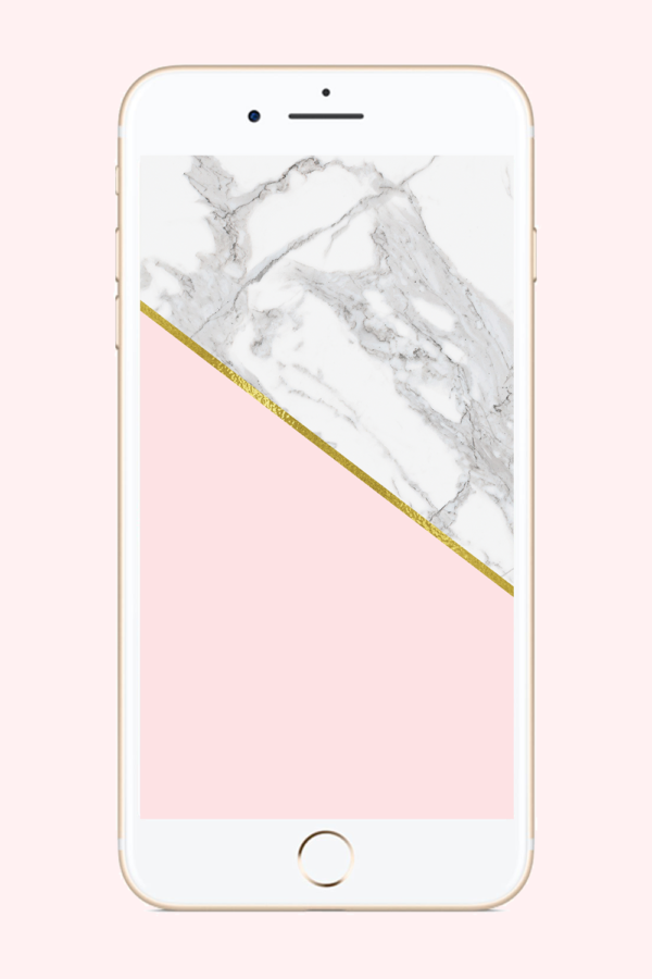 Marble Blush Phone Background