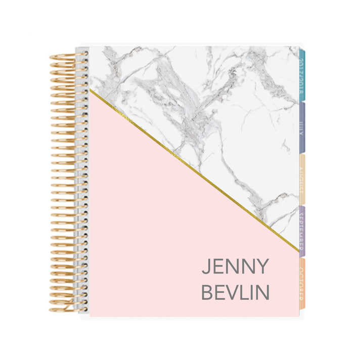 picture relating to Planner Cover Printable named Marble Blush Printable Binder Protect - Planner Address