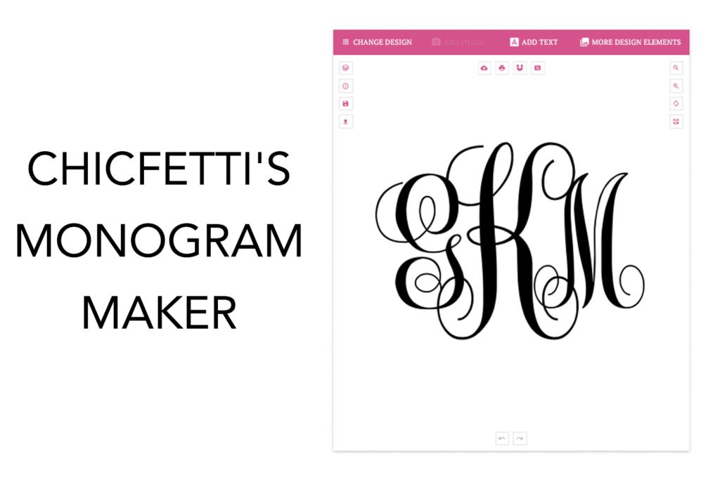 chicfetti monograms