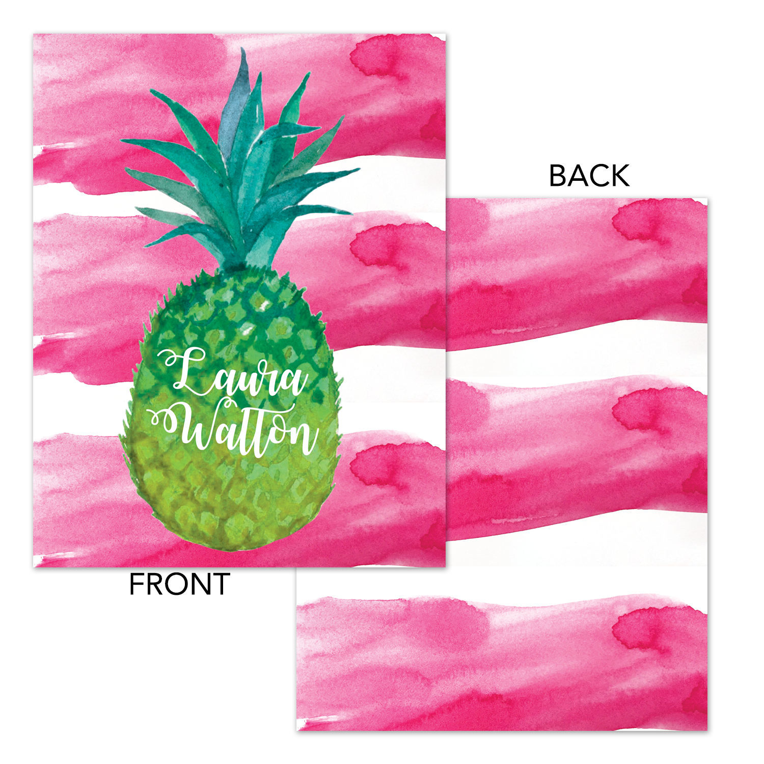 photo relating to Pineapple Printable referred to as Watercolor Pineapple Printable Binder Deal with - Planner Deal with