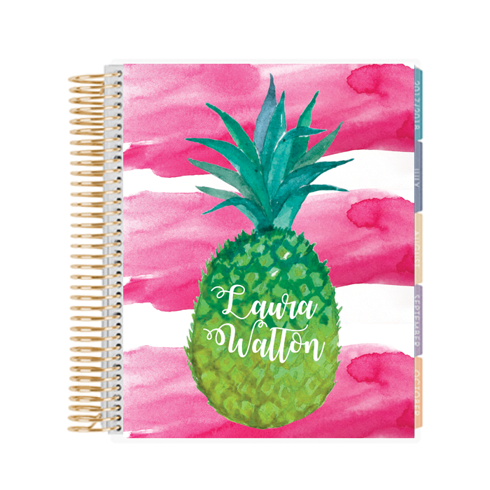 watercolor pineapple printable binder cover planner cover chicfetti