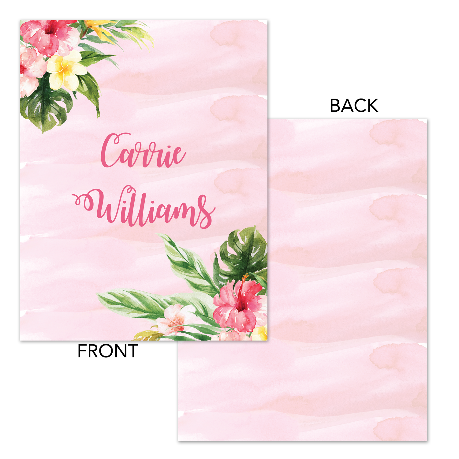 picture regarding Planner Cover Printable named Tropical Watercolor Printable Binder Deal with - Planner Include