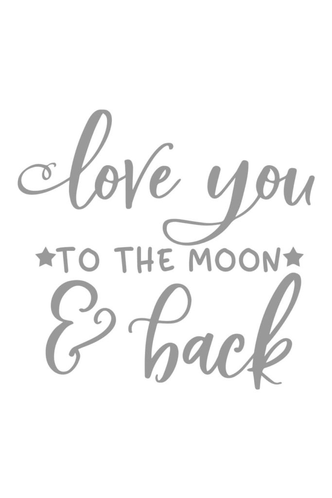 Vinyl Decal Sticker for Wine bottle i love you to the moon and back wedding