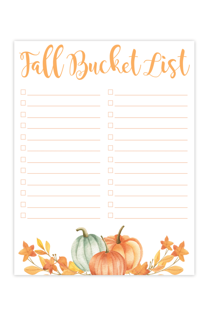 photo about Bucket Printable referred to as Printable Slide Bucket Listing - Chicfetti