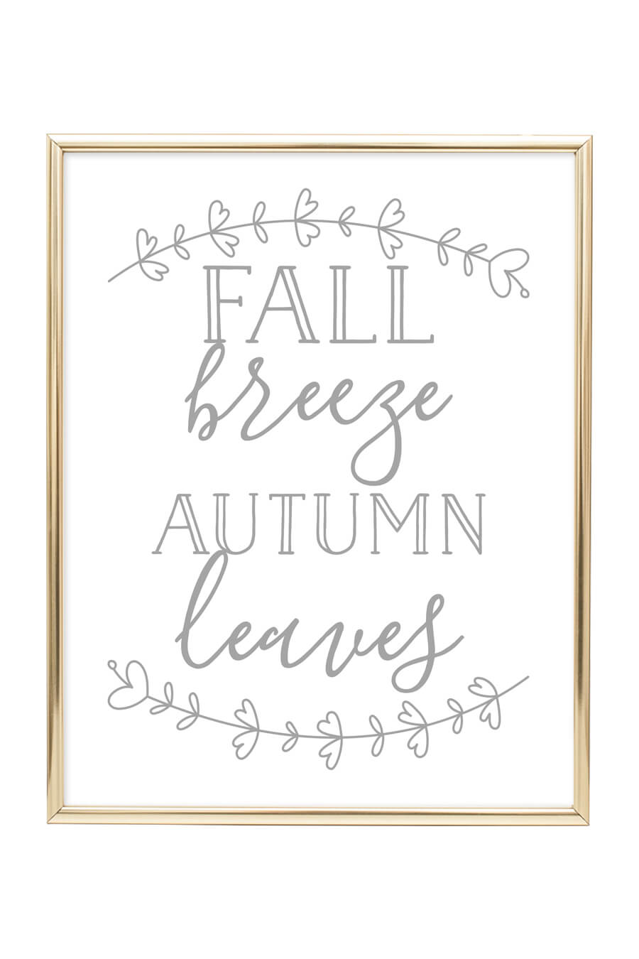 fall breeze autumn leaves printable wall art