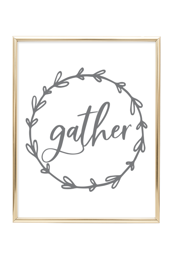 image relating to Gather Printable named Assemble Printable Wall Artwork - Chicfetti