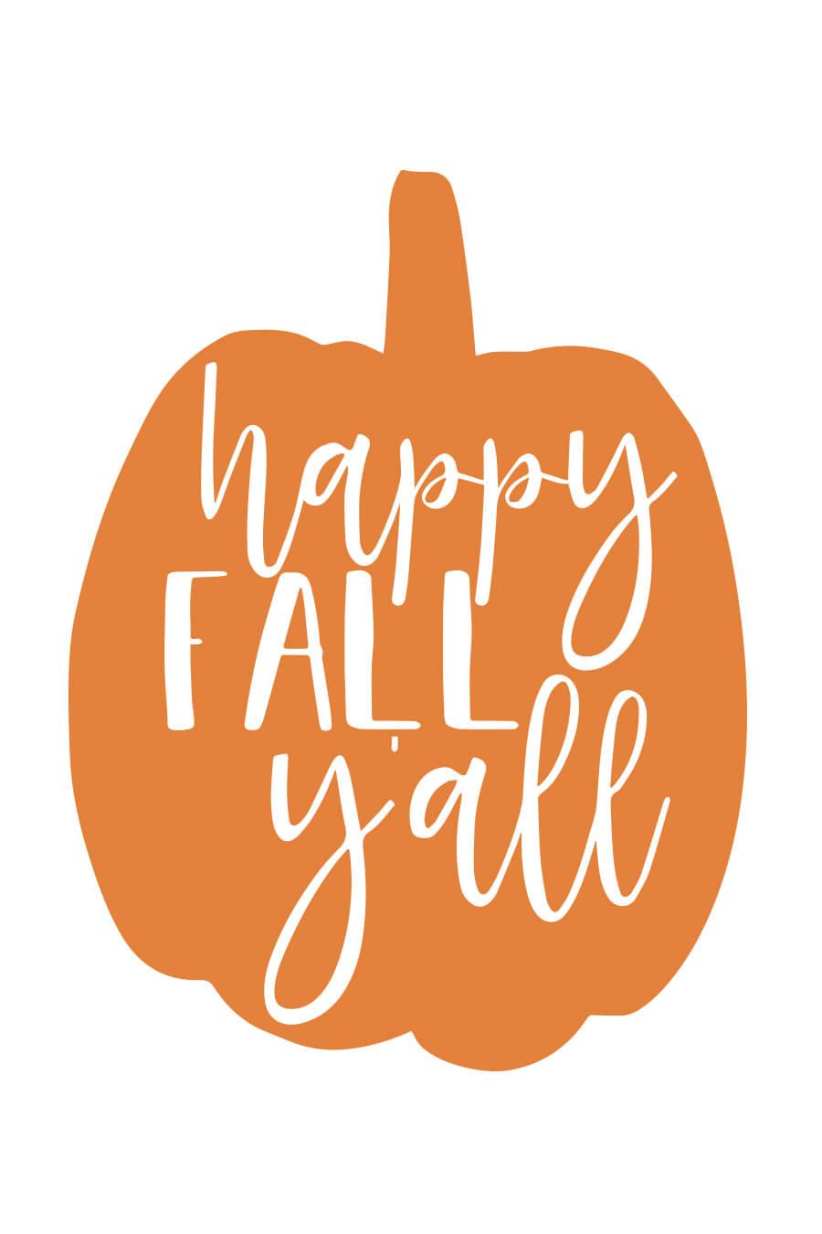 Happy Fall Y All Svg File Chicfetti