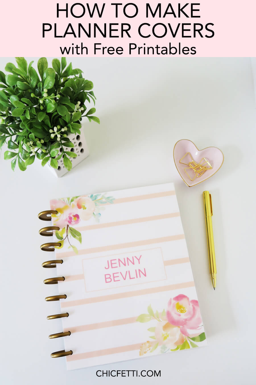 How to make planner covers - Learn how to make your own planner covers. Make both Erin Condren planner covers and Happy Planner covers with our free printable planner covers #planner #plannerprintable #freeprintable #happyplanner #erincondren