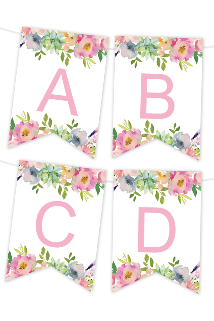 Playful image inside free printable banners