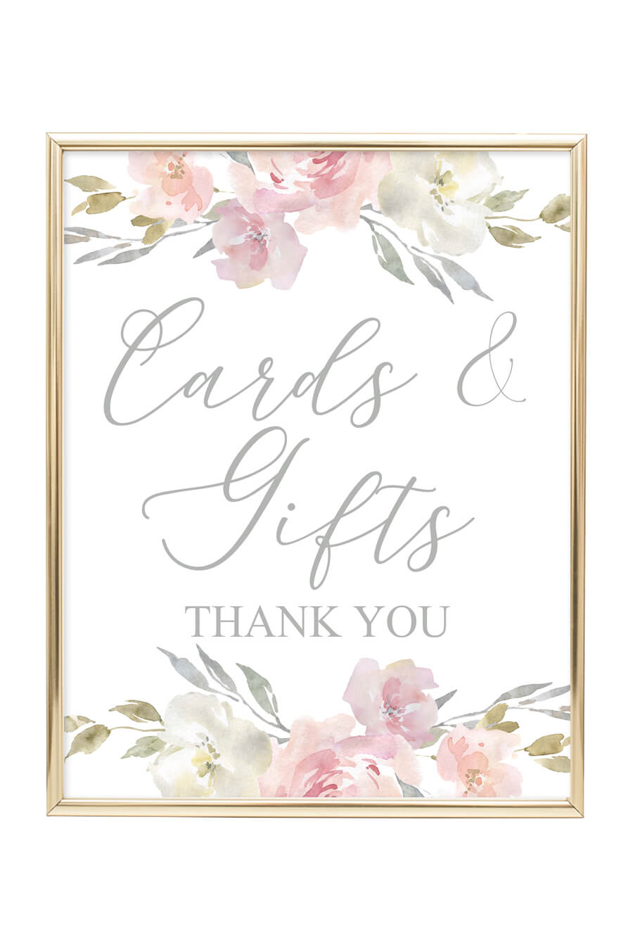 Blush Floral Printable Cards And Gifts Sign Chicfetti