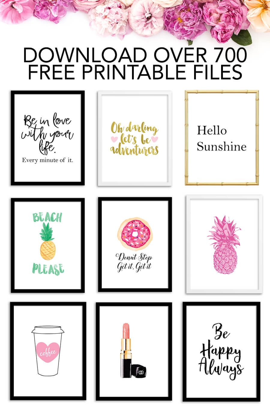 Download Over 700 FREE Printable Files