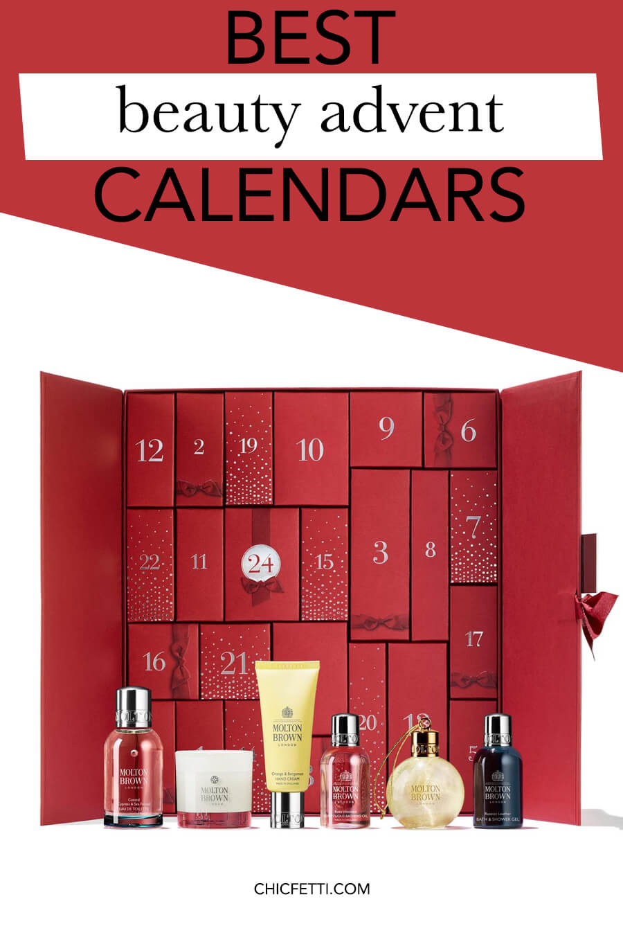 Best beauty advent calendars for Christmas 2018 - count down to Christmas with these gorgeous beauty advent calendars #christmas #christmasideas #christmasgiftideas #advent #adventcalendar #adventcalendars #beautyadvent