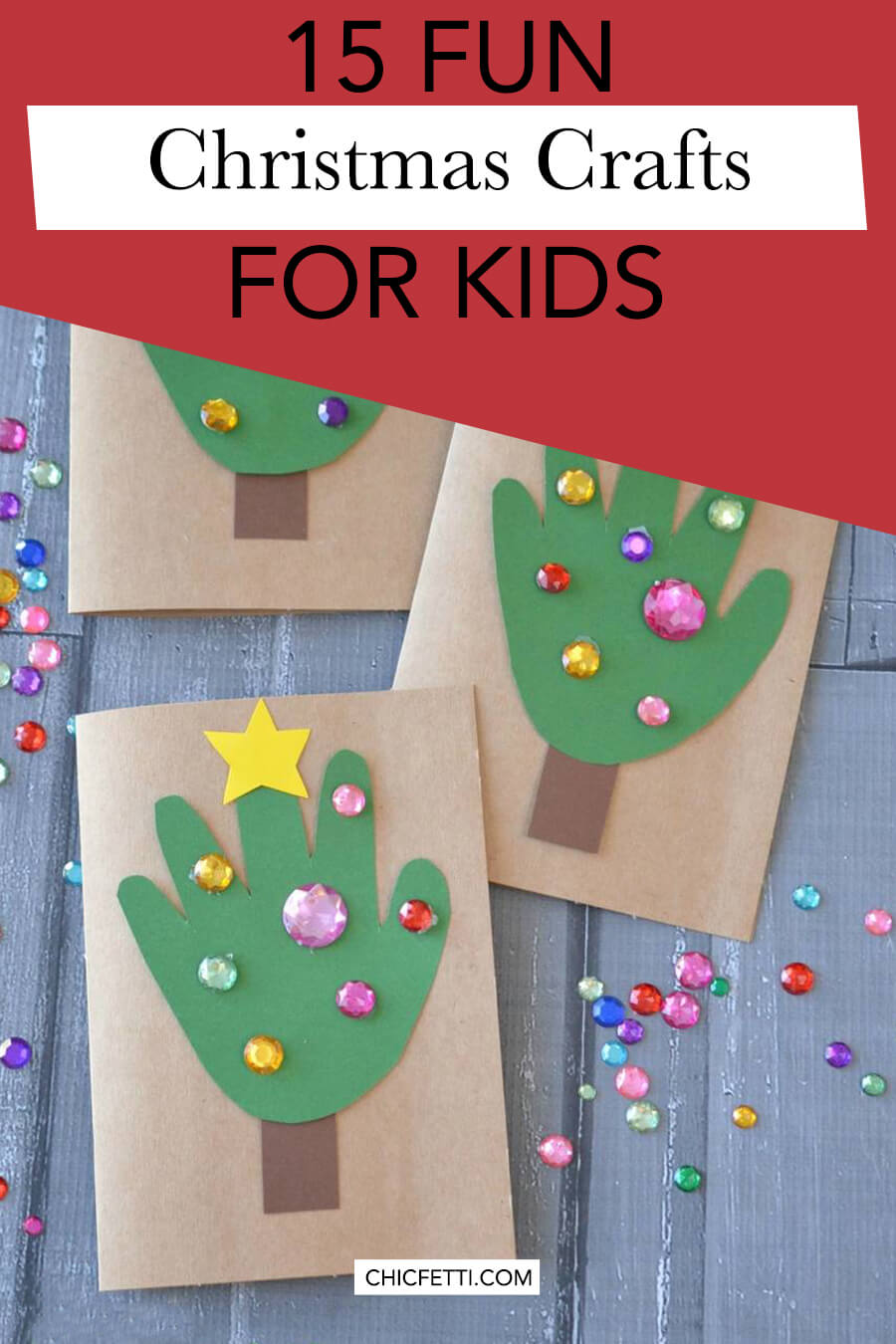 15 Fun Christmas Crafts for Kids - make crafts with your kids for Christmas. Kids will have fun make these Christmas crafts #christmas #christmasideas #christmascrafts #kidscrafts #crafts #craftsforkids #christmascraftsforkids