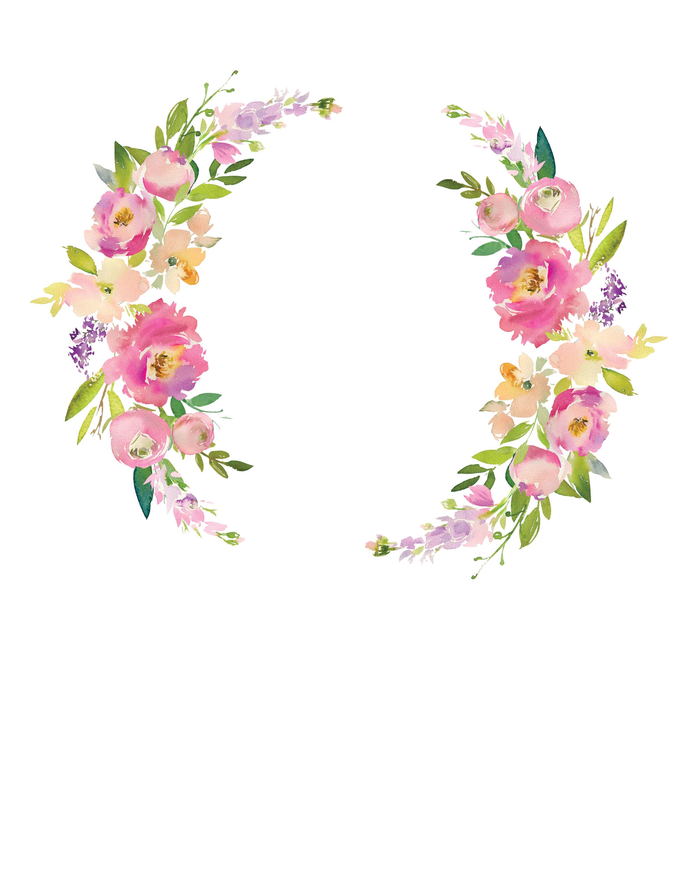 Pink Floral Personalized Wall Art - Chicfetti