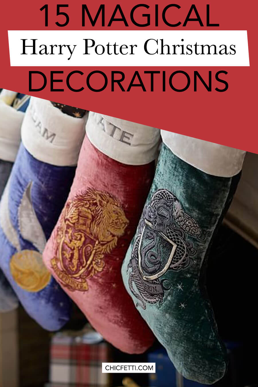 15 Magical Harry Potter Christmas Decorations - decorate your home with Harry Potter themed Christmas decorations including Harry Potter Ornaments for your Harry Potter Christmas tree #harrypotter #christmas #christmasideas #christmastheme #harrypotterchristmas #christmasdecor #christmasdecorations