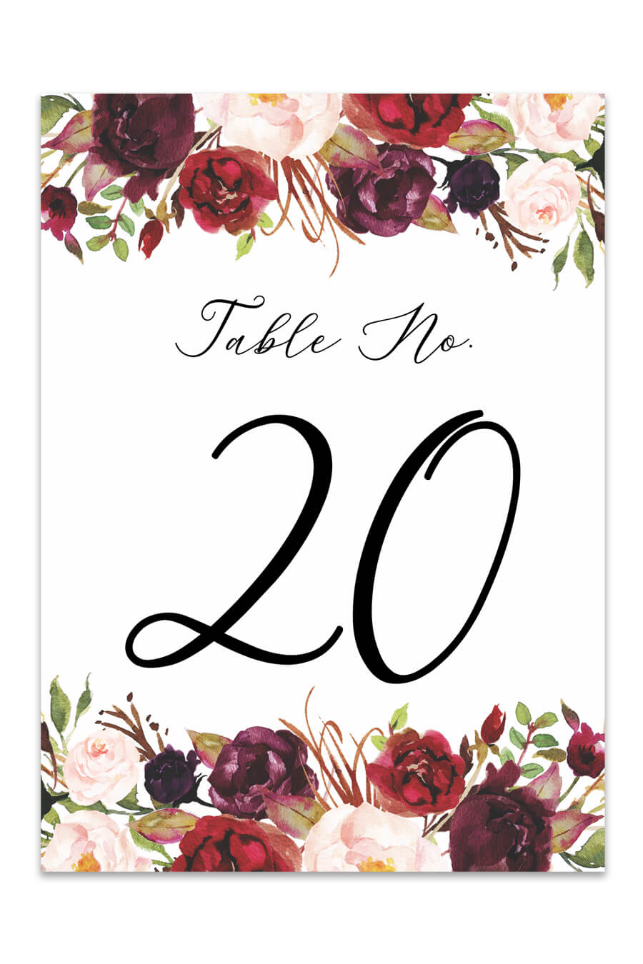 This is an image of Table Numbers Printable with oval template wedding table