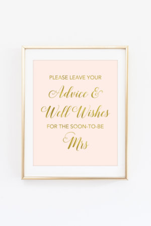 Soon to Be Mrs Advice Sign