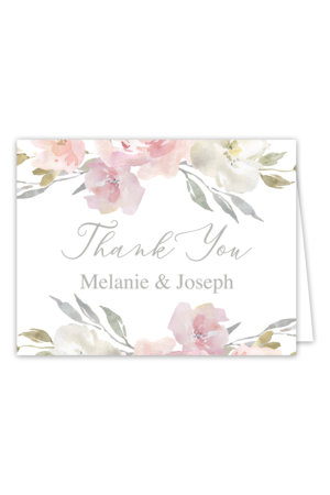 Blush Floral Thank You Cards