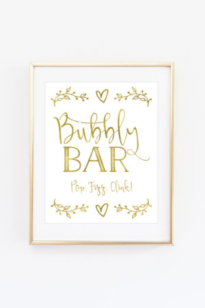 Bubbly Bar Sign