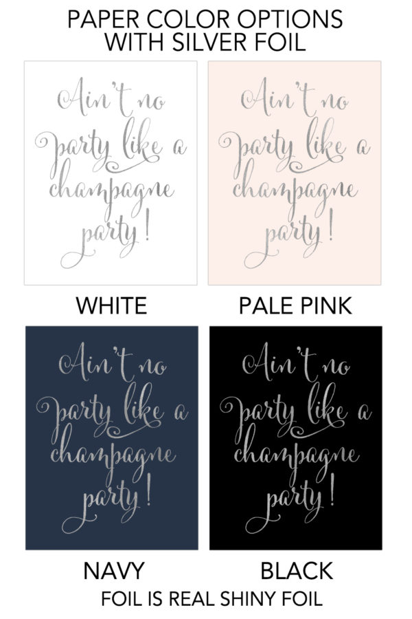 Champagne Party Foil Art Print