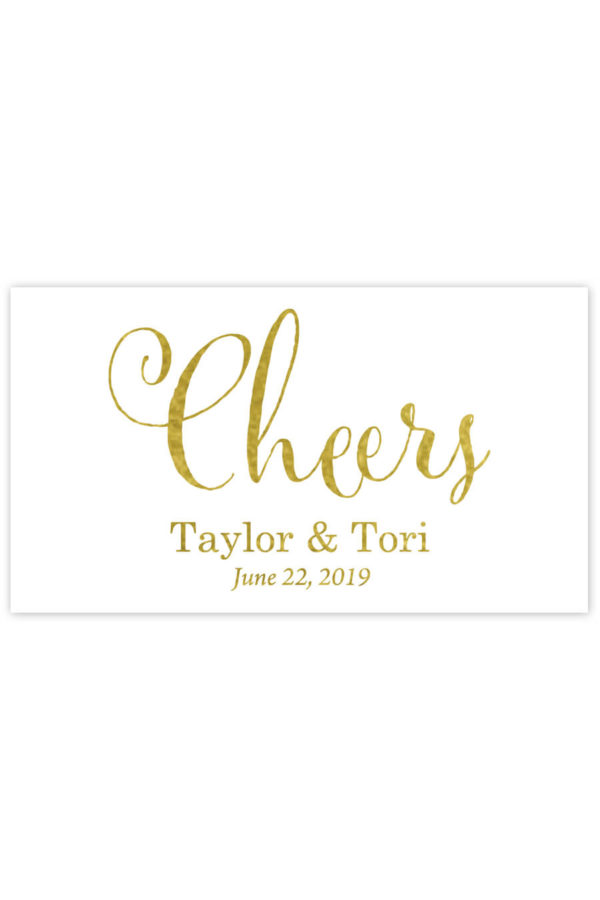 Cheers Mini Champagne Labels