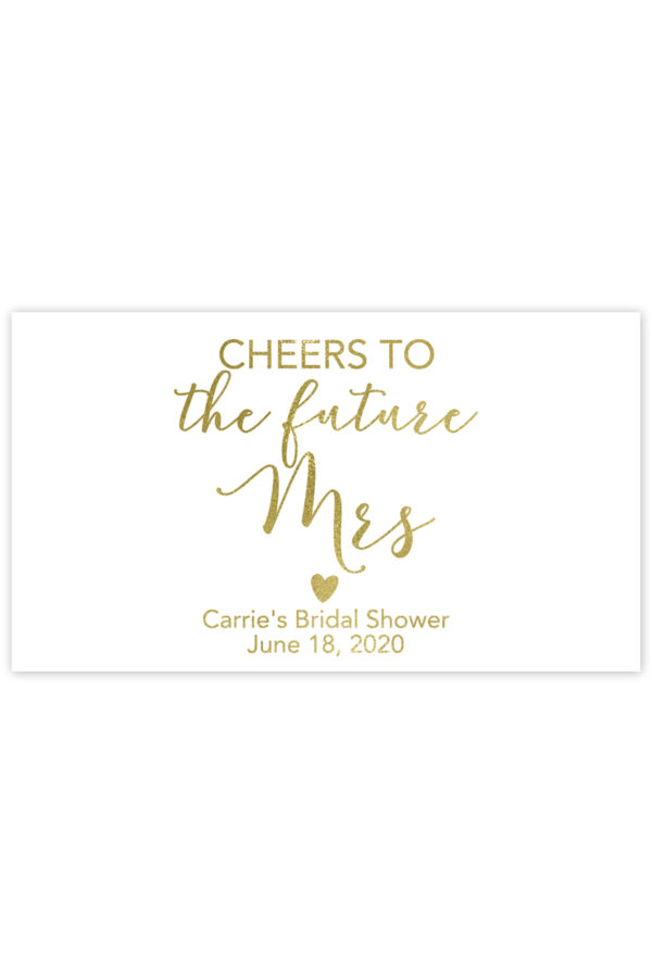Cheers to the Future Mrs Mini Champagne Labels