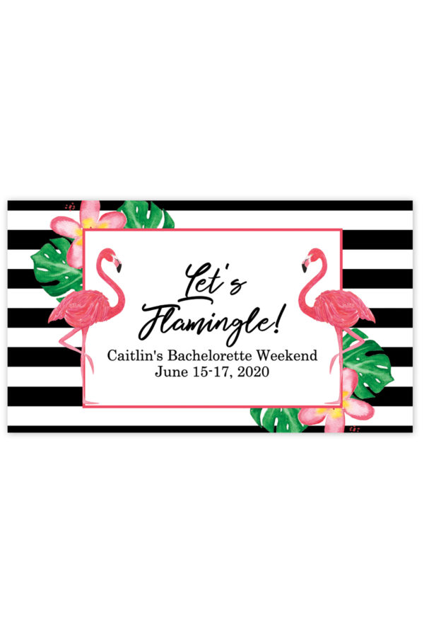 Flamingle Mini Champagne Labels