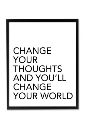 Change Your Thoughts Wall Art