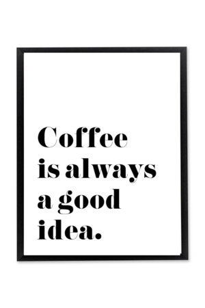 Coffee is Always a Good Idea Wall Art