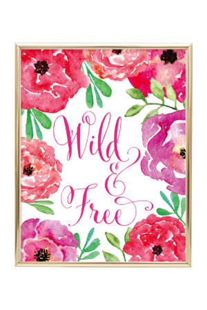 Wild & Free Floral Wall Art