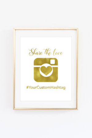 Camera Hashtag Sign
