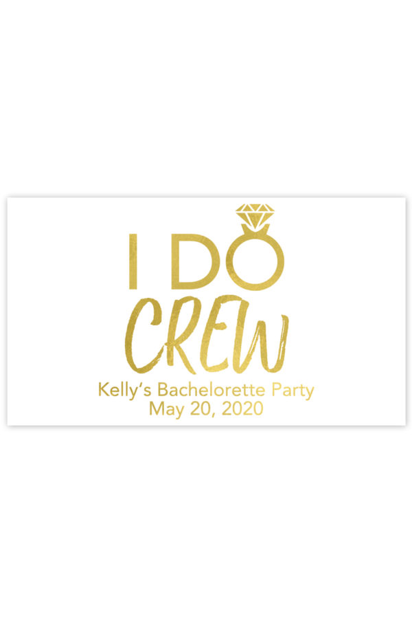 I Do Crew Mini Champagne Labels