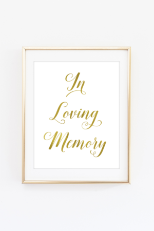 picture relating to In Loving Memory Free Printable titled Indications - Obtain cost-free printable symptoms which include occasion indicators